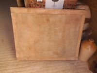 Butchers block old size its 2ft 6ins by 2ft by 5.5 inches or 76 x 60 x 14,