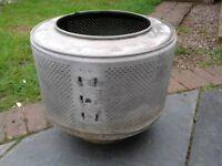 Fire pit - retro washing machine drum
