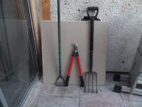 6 x garden tools