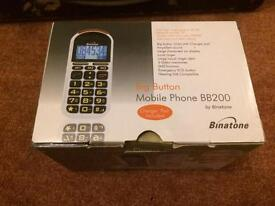Binatone Big Button BB 200 Mobile Phone - Sim Free Phone