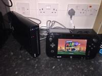 Wii U black console 32GB with 4 games