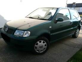 VW Polo, 1.4 E, 2001, 75,809 miles, Manual, Petrol, 3 door hatchback in good condition