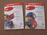 100 Print Fit CD Inserts + 50 Print Fit CD Labels for Inkjet or Laser printer.