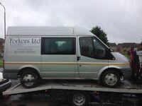 Ford transit swb, 57 reg, silver, 117k miles, mot jan, non runner, may need engine? £1095 kilmarnock