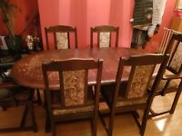 table with chair