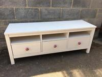 Ikea Hemnes tv bench white stain