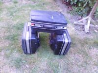 Motorbike luggage top box and side cases,hard luggage