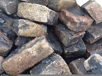 Reclaimed Random Pink Granite Cobbles | Setts | Cubes | Bagged | Tonne | Stone