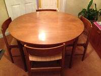 Teak Dining Table and Matching Chairs