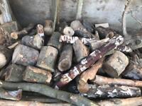 High sided atv trailer load of logs