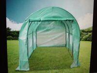 New Walk-in Polytunnel Round Top Greenhouse 4.5m x 2.1m x 2.1m (450x210x210cm)