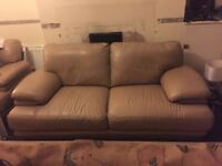 REID LEATHER SOFAS MINK/TAUPE COLOUR