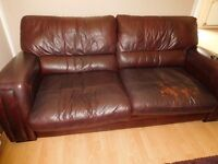 Leather Settee (Surface Damage)