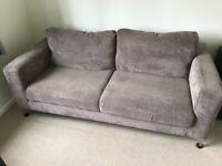 3 Seater Taupe Sofa
