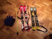 2 pairs Salomon snow blades + hat £60