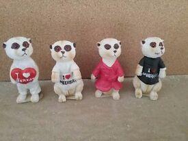 Set of 4 Meerkat figures