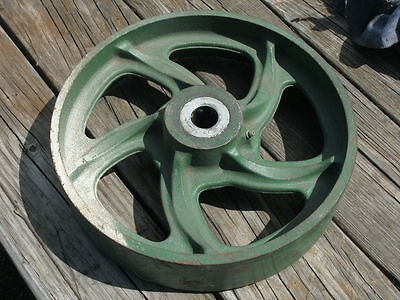 Vintage Industrial Metal Cart Wheel 11.75 Diameter Wbearing Hub