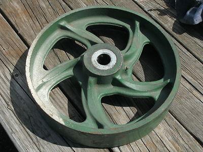 Vintage Industrial Metal Cart Wheel 11.75 Diameter Wbearing Hub