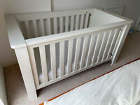 John Lewis 'Squares' wooden baby bed cot - includes foam mattress - excellent quality!