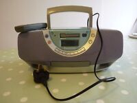 Panasonic Portable Stereo (Tape/ Tuner /CD) System Model RX-EX1.