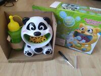 Brand new Bubble Machine, Automatic Bubble Panda Making Machine for Kids