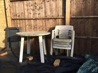 Garden table and chairs - FREE