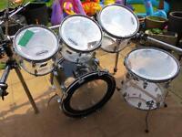 Ludwig vistalite acrylic vintage drum kit