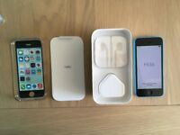 Apple iPhone 5c - 32GB - Blue EE can be (Unlocked) and case