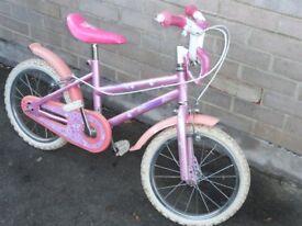 Girl's bike, 16 inch wheels