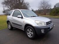 2001 TOYOTA RAV 4 2.0 VVT-I NV 3 DOOR MOT JANUARY 2018