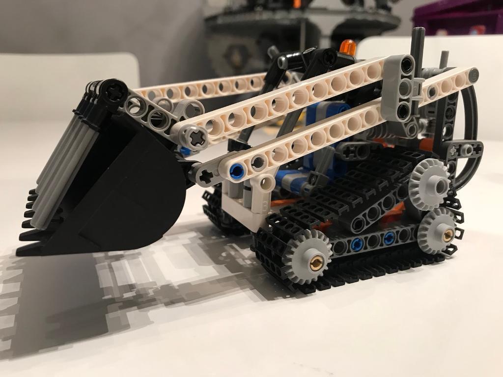 Small Lego Technic Mini Bulldozer No Box Or Instructions In Crewe