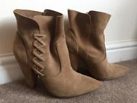High Heeled Boots (Size 3)