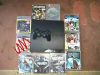 PS3 Slim 320GB with Games Controller HDMI FAULTY