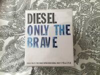 DIESEL ONLY THE BRAVE EAU DE TOILETTE, 125ml.NEW IN CELLOPHANE SEALED BOX.COST £60