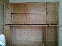 2 Pine Wardrobes with bottom drawer and separate topbox, good condition