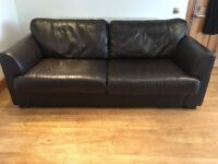 Large Brown Italian Leather Sofa (bought from Peter Green)