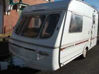 SWIFT CHALLENGER 400SE CARAVAN,SMALL& LIGHTWEIGHT WITH FULL AWNING.