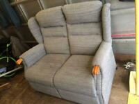 Modern 2 seater cottage style sofa ,grey great condition.