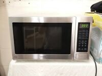 stainless steel kenwood 900w 30L microwave oven with grill and digital display
