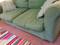 Green 3 Seater Sofa , Habitat.
