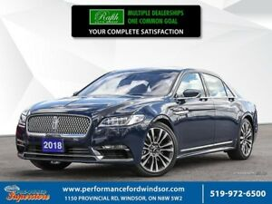 2018 Lincoln Continental Reserve ***CAP Unit, heads up display,