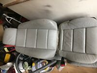 bmw e36 front grey leather seats genuine