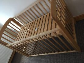 Babycot/bed cokes with mattress. In excellent condition from newborn till 2years.