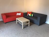 2 x IKEA Klippan 2-seat sofa with removable easy to clean cover, bought in January 2017