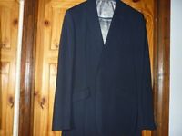 """Ted Baker Mens Suit Navy 100% Wool 42"""" Chest LONG Jacket & 36"""" LONG Trousers Excellent Condition"""