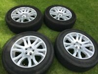 Set of 4 18 inch alloy wheels and tyres from 2008 Land Rover Freelander 2.