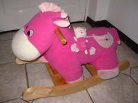 Baby rocker - rocking Hippo Horse soft Pink