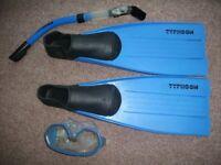 Typhoon swimming/snorkelling fins / mask / breathing tube