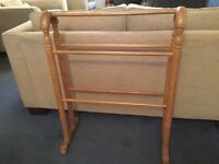 Antique Pine Wooden Towel Rail (2 available)