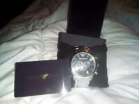 Limited edition Emporio Armani watch boxed with warranty card for 2 years